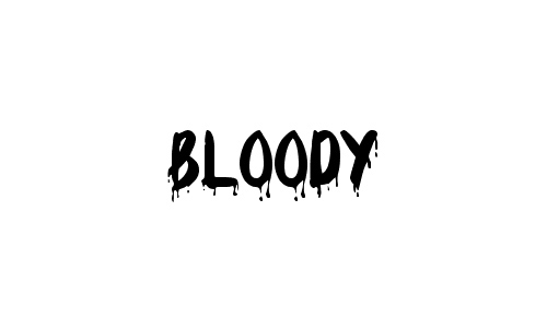 bloody font generator
