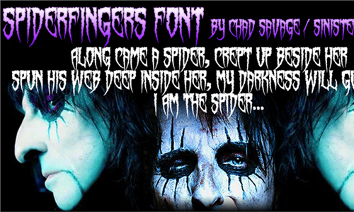 spiderfingers font