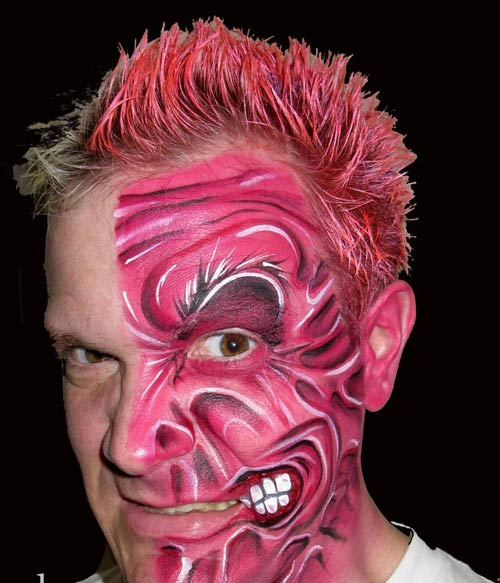 Unique Face Painting Design