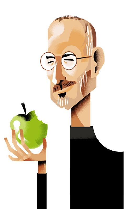 Expressive Steve Jobs Illustration