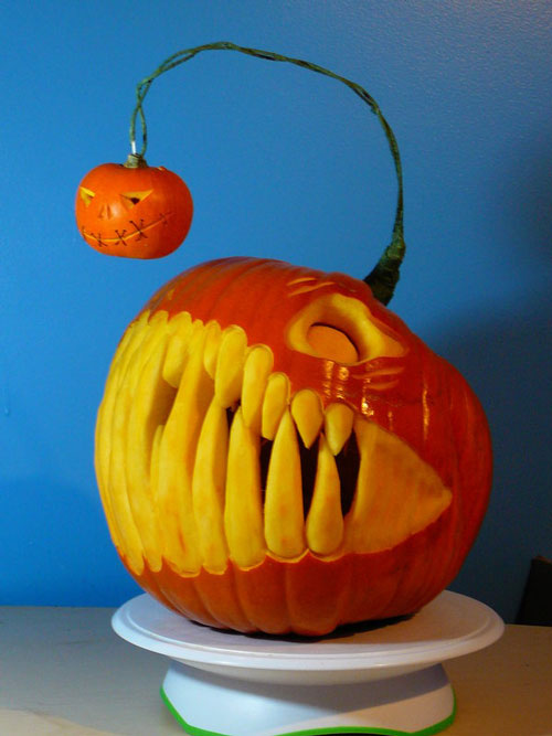 Very Nice Pumpkin Carvings