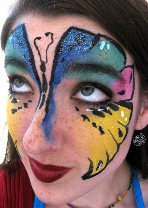 Attractive Face Painting Design