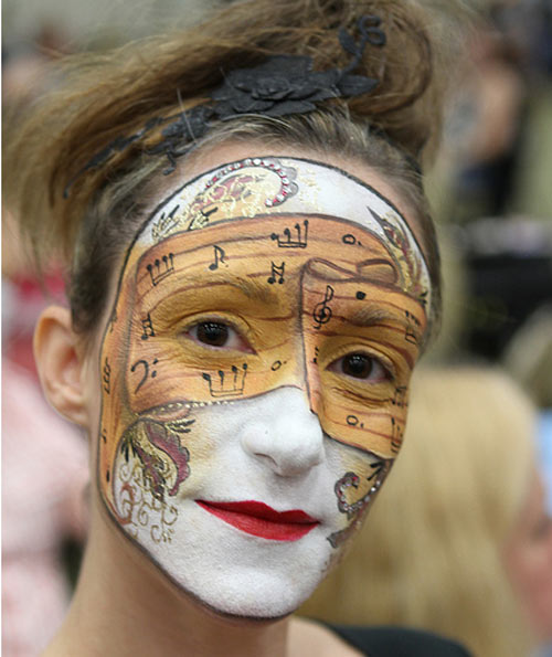 Really Inspiring Face Painting Design