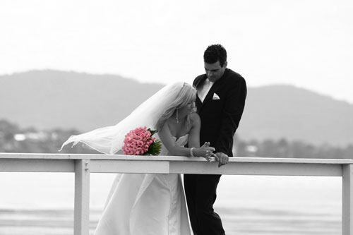 Very happy wedding photo width=