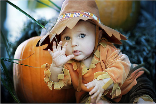 So Comfortable Baby Halloween Photography