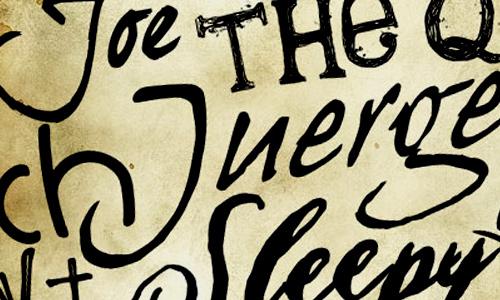 Handwriting fonts express an emotion