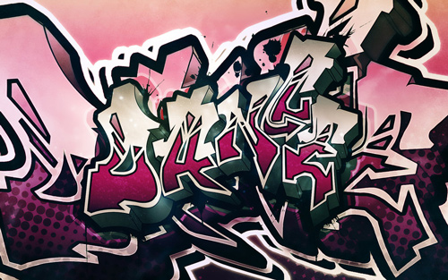pink dance graffiti wallpaper