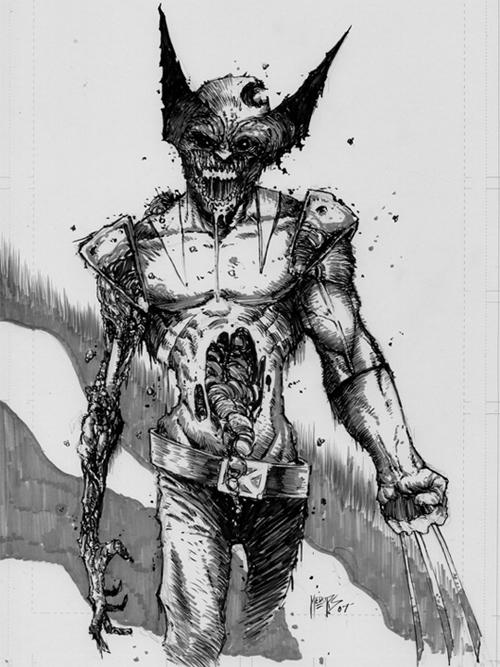 zombie wolverine sketch