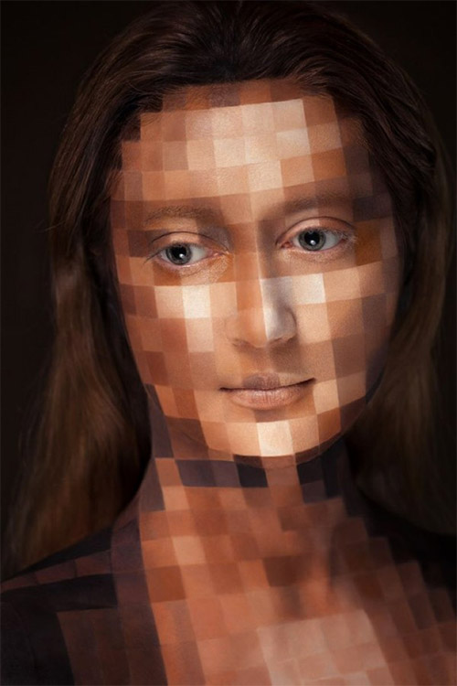 pixel face painting