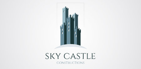 castle construction logo design