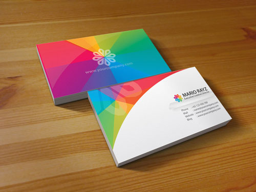 Really Colorful Business Card
