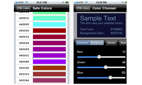Smart Iphone App for Designers