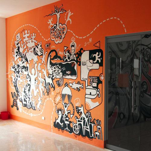 Catching Mural Paint Art
