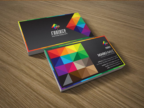 Incredibly Colorful Business Card