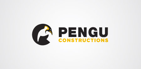 pengu construction logo design