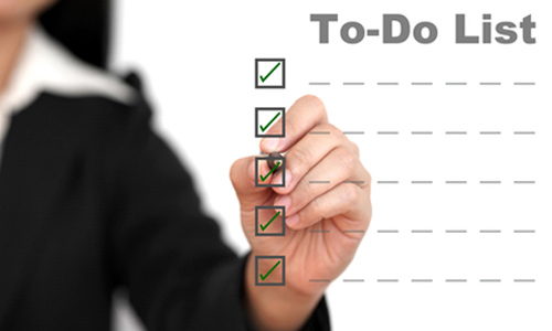 Use a to-do list