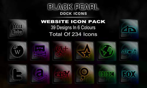 Black Pearl Website Dock Icons