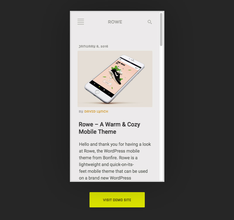 wordpress theme mobile