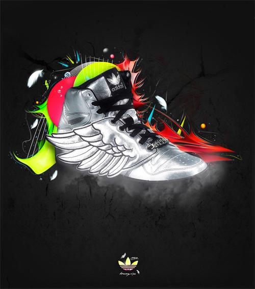 Flying Adidas