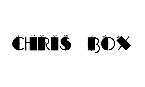 CHRIS BOX font