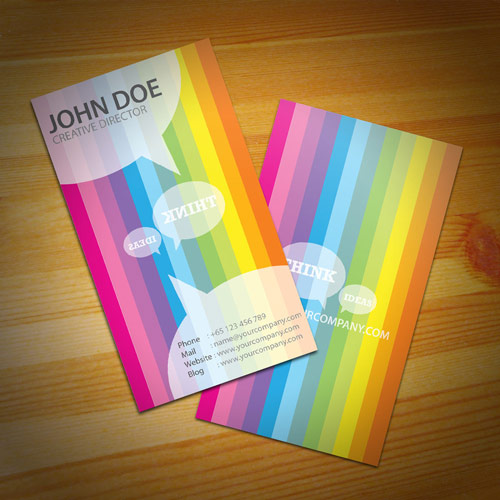 Lovely Colorful Business Card
