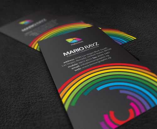 Fantastic Colorful Business Card