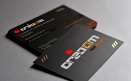 Unique Creaam Business Card