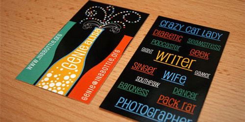 Fabulous Colorful Business Card