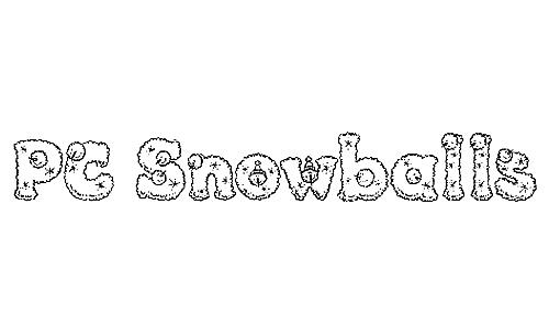 PC Snowballs font