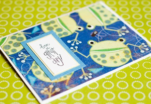 Relaxing friendship card
