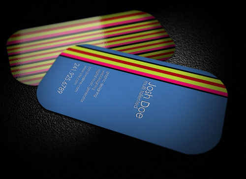 Really Awesome Colorful Business Card