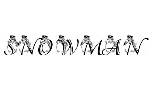 PF Snowman3 Adorable Font