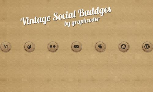 70 Vintage Social Badges