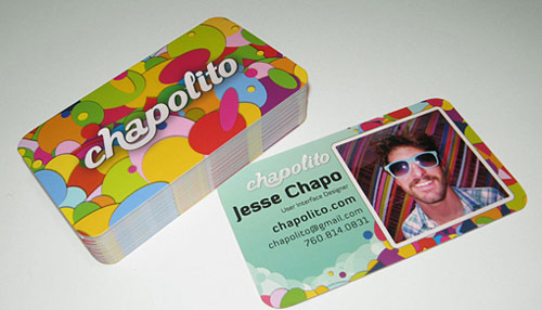 Simply Inspiring Colorful Business Card