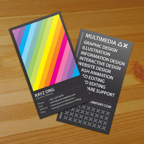 Absolutely Colorful Business Card