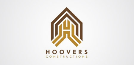 hoovers construction logo design