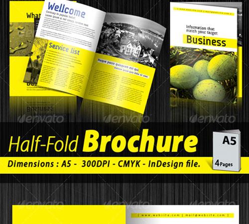 a5 half fold corporate brochure