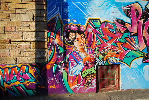 Very Colorful Mural Paint Art