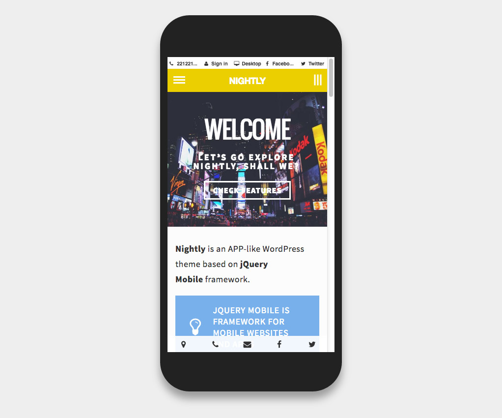 mobile wordpress template