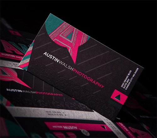 Pleasingly Colorful Business Card