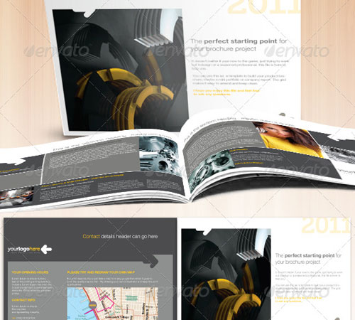 professional business a5 landscape brochure professional business
