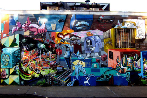 Graffiti Mural Paint Art