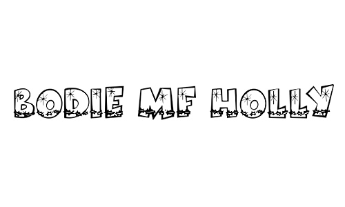 Bodie MF Holly Font