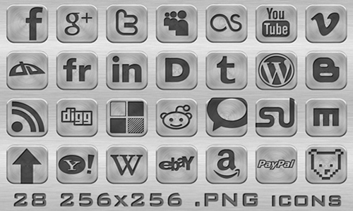 Metal Web Icons