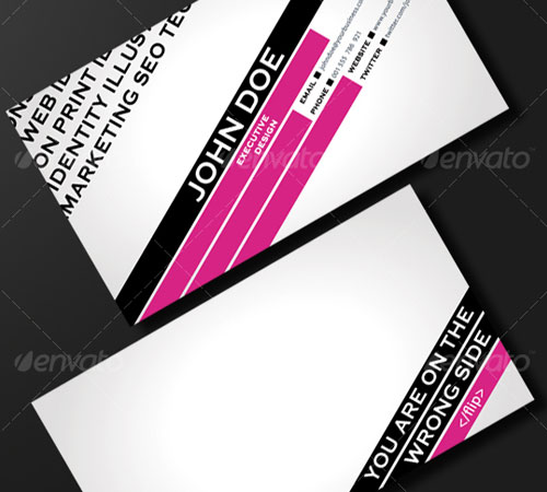 FASHION & TRENDY BUSINESS CARD