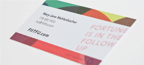 Likeable Colorful Business Card
