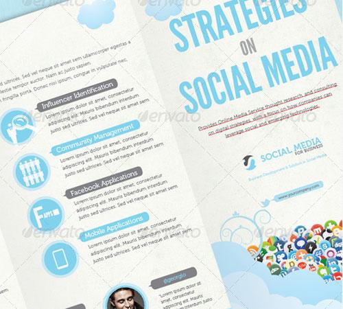 Social Media Print Template