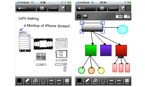 Scribbled IPhone App for Designers