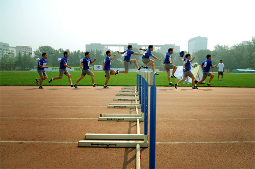 My first action sequence photography (hurdles)d