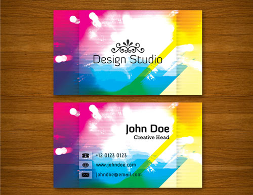 Full-Colored Colorful Business Card